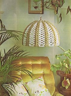 """""""Macramé Lamps and Lamp Shades makes for a variety of home decorating ideas or gift ideas PDF patterns ready for instant download"""""""
