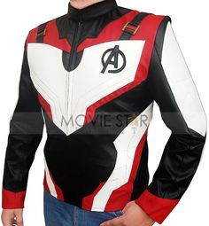 Captain America wear up a new suit in Avengers Endgame, he wore the best Costume. Moviestarjacket made the perfect costume jacket for Avengers Jacket Captain America Jacket, Leather Jackets Online, Hollywood Fashion, Hollywood Stars, Stylish Jackets, Cosplay, Cool Costumes, Leather Men, Avengers