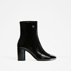 ZARA - SALE - HIGH HEEL LEATHER ANKLE BOOTS WITH METALLIC TOE