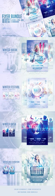 Winter Bash Flyer Template By Inthesky On Creativemarket
