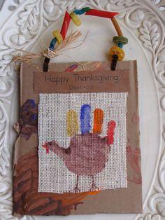 Share and Remember: Hand Print Turkey Keepsakes