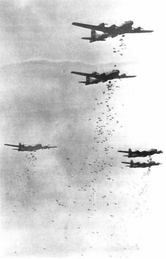 B-29s over Japan in World War II.