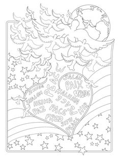 Printable Adult Coloring Page Digital Download by ColorOnPurpose