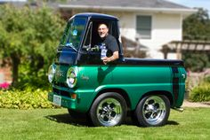 1965 Dodge Submitted by Joe Madeiros of Courtis, Ontario. Mini Trucks, Old Trucks, Dodge Trucks, Smart Car Body Kits, Vw Bus, Microcar, Cool Vans, Weird Cars, Futuristic Cars