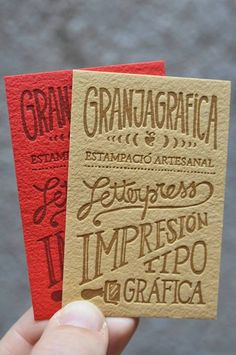 hand-lettered & letterpressed