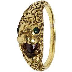 Lion ring, 16th century, Italian.