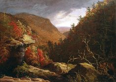 What he does with color is amazing... The Clove, Catskills by Thomas Cole