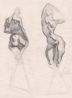 Life figure drawing styles.