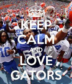 Keep calm and love the Florida Gators! Uf Gator, Gator Game, Florida Gators Football, College Football, Fla Gators, Florida Athletics, College Sport, Football Baby, Florida Girl