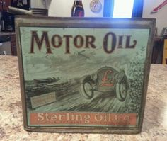 Ultra Rare Sterling Oil Co. Motor Oil Can Pre-1920s Gas Oil Great Graphics NR