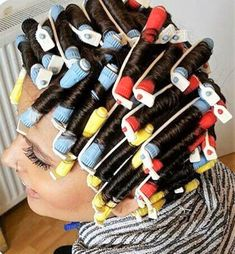 Perm Rods, Roller Set, Curlers, Perms, Hair Beauty, Hair Styles, Vintage, Drawing Rooms, Hair Makeup