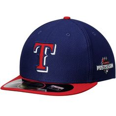 Texas Rangers New Era Authentic Collection 5950 Post Season Patch Fitted Hat - Royal/Red