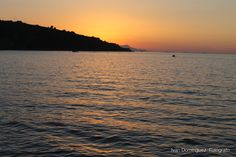 """""""Sorrento Bay"""" --  After a cup of coffee (or a coffee ice-cream cone for a film buff woman), silence is enjoyed much better."""