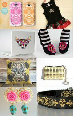 Skull fashion! by Sabrina on Etsy--Pinned with TreasuryPin.com