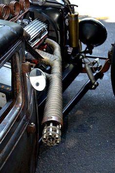 roadkillcustoms:Gatling gun exhaust Roadkill Customs