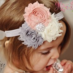 Shabby Chic Headband :) will make one for my baby...