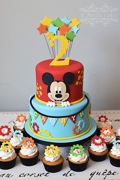 Mickey Mouse Clubhouse theme cake by K Noelle Cakes