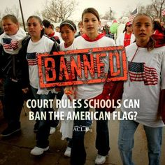 """""""The ninth circuit court of appeals said the American flag had to go because the kids displaying it were being threatened. They punished patriotism, not the perpetrators."""" Sign & share our petition to protect the American flag. Jay Sekulow @ ACLJ.org wear your American flag gear & colors on cinco de mayo to support THE UNITED STATES."""
