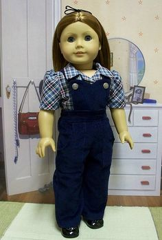 1940's Play Clothes, Corduroy overalls and shirt