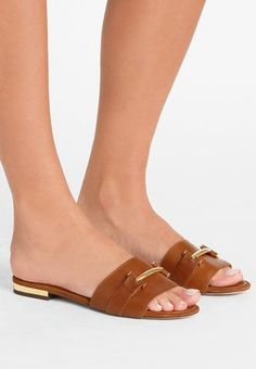 917347b1b8d6 SUPER SOFT DAVAN - Matalakantaiset pistokkaat - deep saddle tan