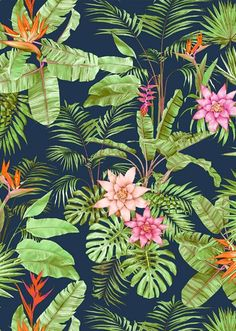 Take inspiration from vibrant tropical prints for ideas on colour combinations…