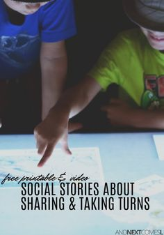 Free social stories for kids about sharing and taking turns Social Stories Autism, Social Skills Autism, Social Skills Lessons, Social Skills Activities, Teaching Social Skills, Life Skills, Teaching Kids, Activities For Autistic Children, Autism Activities