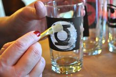 Etch glasses and shot glasses- great for monograms or personalized gifts!