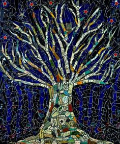 """ Tree of Life"" Mosaic art by Angela Farnham"