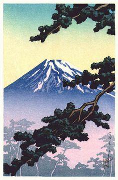 Kawase Hasui, Sacred Mt. Fuji, 1936