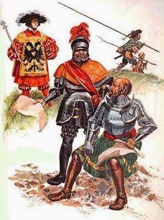 Tudescos: Heraldo Imperial (1.525) Georg Von Frundsberg y Götz Von Berlichingen con su mano de hierro. http://www.elgrancapitan.org/foro/viewtopic.php?f=21&t=16835&p=919197#p919197