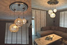 Wrought iron 10 heads Multiple rod ceiling lights for living room ...
