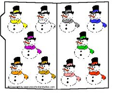 Preschool Printables: Snowman Color Match and many more on this site File Folder Activities, File Folder Games, File Folders, Preschool Activities, Preschool Art, Preschool Winter, Preschool Color Theme, Color Flashcards, Toddler Teacher