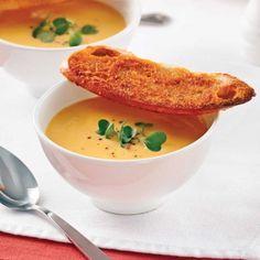 Potage de rabioles et carottes au lait de coco - Entrées et soupes… Tasty, Yummy Food, Looks Yummy, Soups And Stews, I Foods, Coco, Cooking Tips, Soup Recipes, Entrees