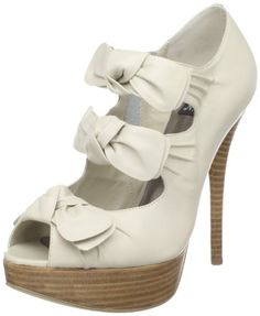 $46.73-$109.50 N.Y.L.A. Women's Daris Peep-Toe Pump,Bone,8 M US - These super cute shoes truly have what it takes to look and feel like an A list celeb.  N.Y.L.A's Daris style has 3 bows lining the front of the sandal and have a smooth bone leather upper.  A 5 inch heel and 1 inch platform add to this feminine and stylish pump. http://www.amazon.com/dp/B004JI9LWM/?tag=icypnt-20