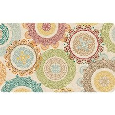 Better Homes and Gardens Lace Medallions Cushion Comfort Kitchen Mat, Multi-Color - Walmart.com