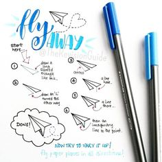 How to draw paper planes.