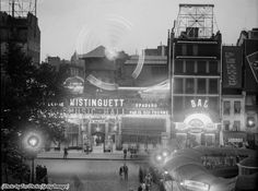 The Moulin Rouge cabaret music hall in Paris, 1929.