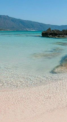The famous Elafonisi Beach, rated as the 9th best beach in the world and 2nd best beach in Europe by TripAdvisor