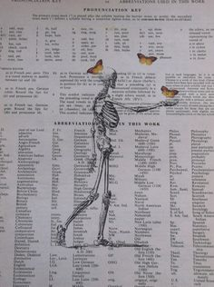 Victorian Skeleton with Butterflies Vintage  by ThePaperSnail, $6.00