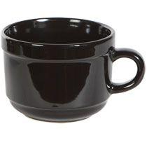 Good for a soup or ice cream bowl!! Bulk Jumbo Black Stoneware Mugs, 20 oz. at DollarTree.com
