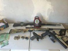 Armas e motos roubadas
