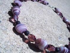 Purple Swirl Necklace
