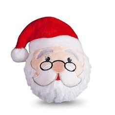 Fab Dog Fabballs Holiday Santa Medium Dog Ball Dog Toy ** To view further for this item, visit the image link.(This is an Amazon affiliate link and I receive a commission for the sales)