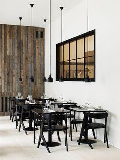 ✌㋡✌ Uma janela para o interior, fumê! Lindo! Gostei! ✌㋡✌   Restaurante Radio, a nova culinária escandinava
