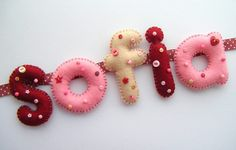 Cute felt letters for baby's name