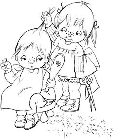 Coloring Book~tina coloring book - Bonnie Jones - Álbuns da web do Picasa Coloring Book Pages, Coloring Sheets, Pix Art, Outline Drawings, Hand Embroidery Patterns, Digi Stamps, Copics, Cute Illustration, Coloring Pages For Kids