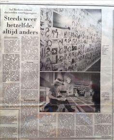 Sef Berkers. 'Always the same, always different'. An article in De Limburger by Sjef Kusters about my exhibition 'Je suis à la gare 1' in gallery Van  laethem, Rekem, Belgium.