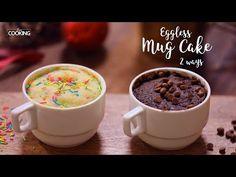Eggless Mug Cake 2 Ways Ingredients For Chocolate Mug Cake Maida - 3 Tbsp Baking Powder - Tsp Granulated Sugar - 3 Tbsp Cocoa Powder - 2 Tbsp Melted Butt. Eggless Cake Recipe Video, Eggless Recipes, Mug Recipes, Easy Cake Recipes, Nutella Recipes, Cookie Recipes, Recipies, Lemon Mug Cake, Vanilla Mug Cakes