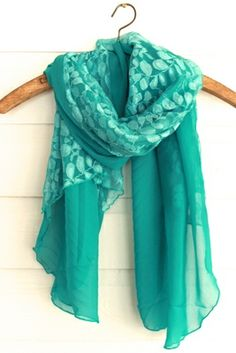 Turquoise sheer and lace Scarf -  shoprustichoney.com #country #boutique