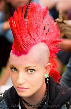 Appearance. Mohawks are classic! I believe that Mohawks were the starting punk hairstyle. They are classic, and still around today. The Faohawk is also a staple, though its really just a weak Mohawk.
